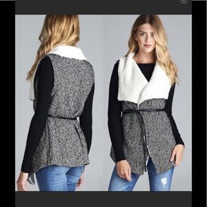Jackets & Blazers - New! Wool Tweed Vest Jacket
